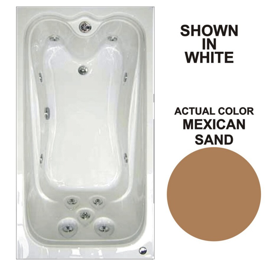 Watertech Whirlpool Baths Elite Mexican Sand Acrylic Rectangular Whirlpool Tub (Common: 42-in x 60-in; Actual: 21.88-in x 41.5-in x 59.75-in)