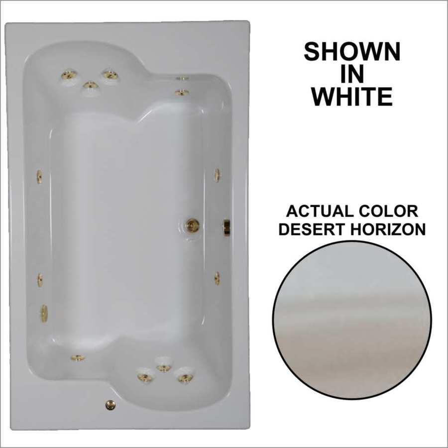 Watertech Whirlpool Baths Designer 2-Person Desert Horizon Acrylic Rectangular Whirlpool Tub (Common: 43-in x 72-in; Actual: 23.25-in x 42.625-in x 71.75-in)