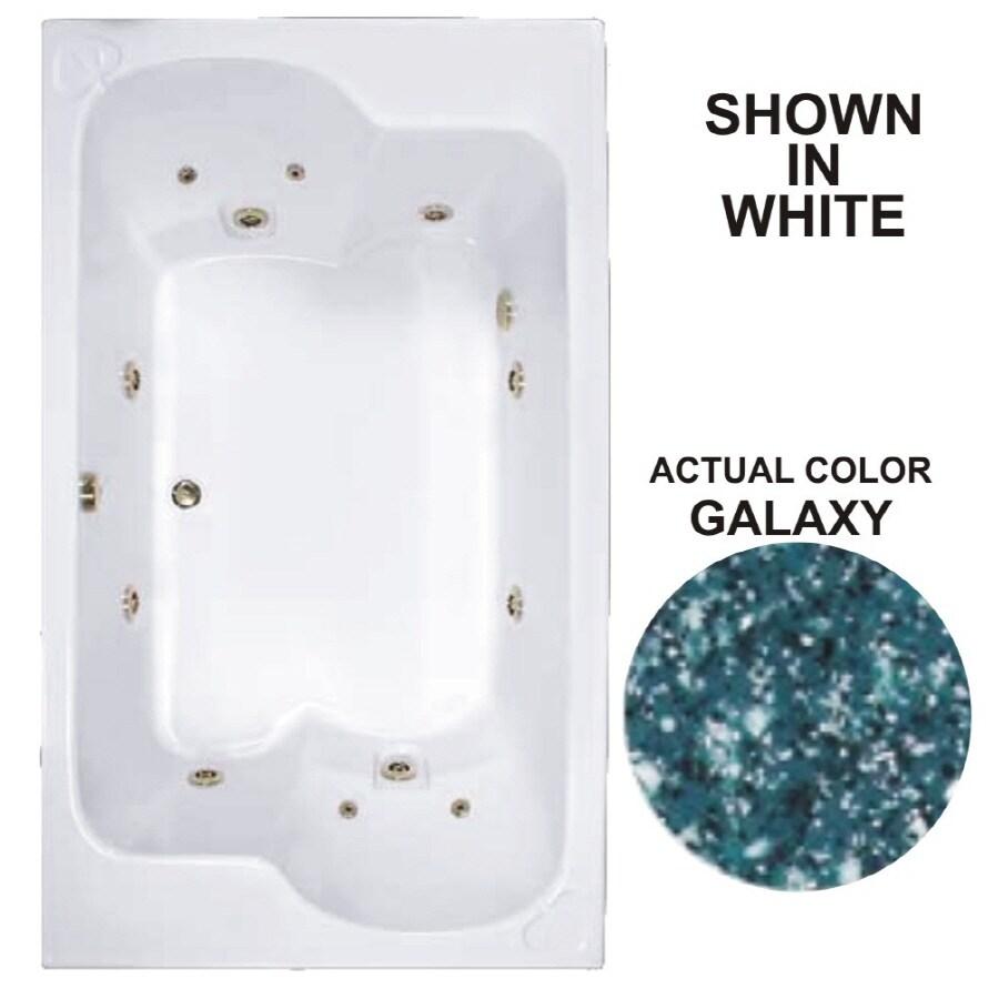 Watertech Whirlpool Baths Designer 71.75-in Galaxy Acrylic Drop-In Whirlpool Tub with Reversible Drain