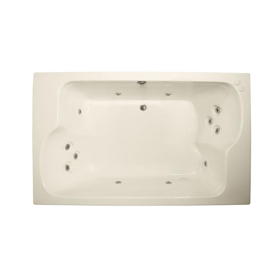 Watertech Whirlpool Baths Designer 2-Person Biscuit Acrylic Rectangular Whirlpool Tub (Common: 43-in x 72-in; Actual: 23.25-in x 42.625-in x 71.75-in)