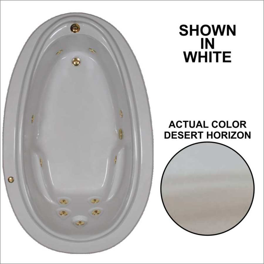 Watertech Whirlpool Baths Elite 70.875-in Desert Horizon Acrylic Drop-In Whirlpool Tub with Reversible Drain