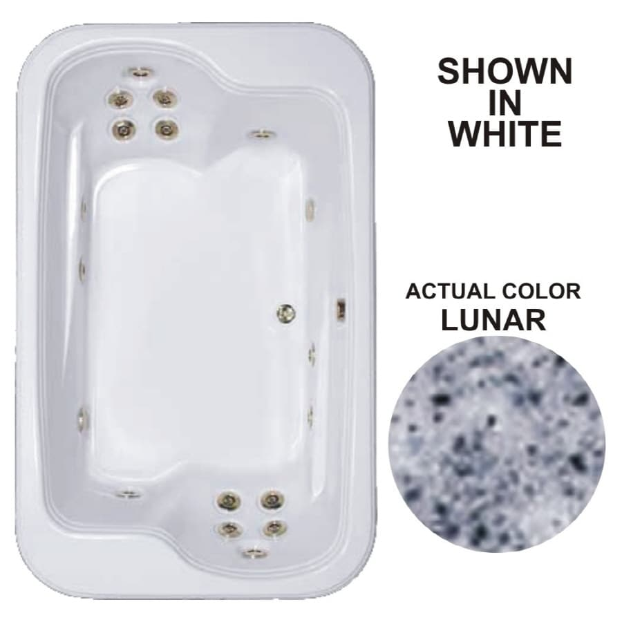 Watertech Whirlpool Baths Designer 71.5-in Lunar Acrylic Drop-In Whirlpool Tub with Reversible Drain