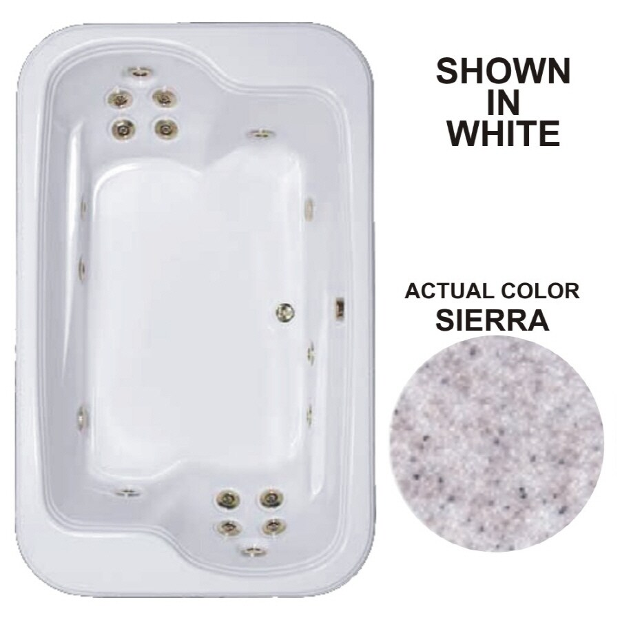 Watertech Whirlpool Baths Designer 2-Person Sierra Acrylic Rectangular Whirlpool Tub (Common: 45-in x 72-in; Actual: 25.375-in x 44.5-in x 71.5-in)