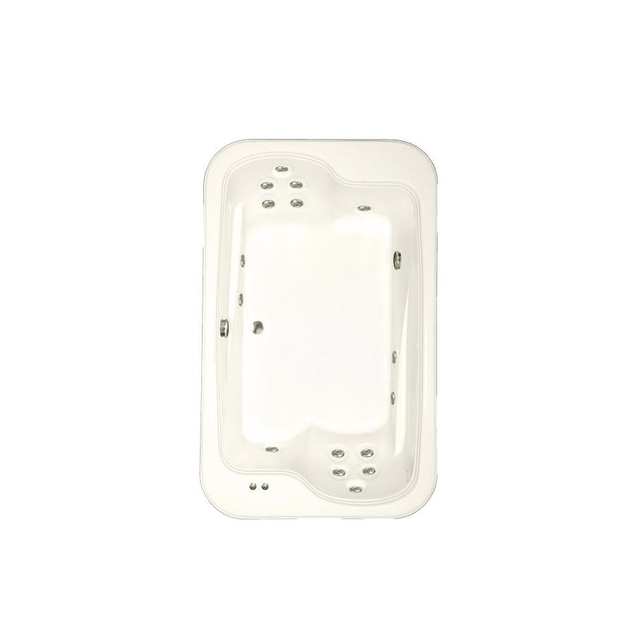 Watertech Whirlpool Baths Designer 71.5-in Biscuit Acrylic Drop-In Whirlpool Tub with Reversible Drain