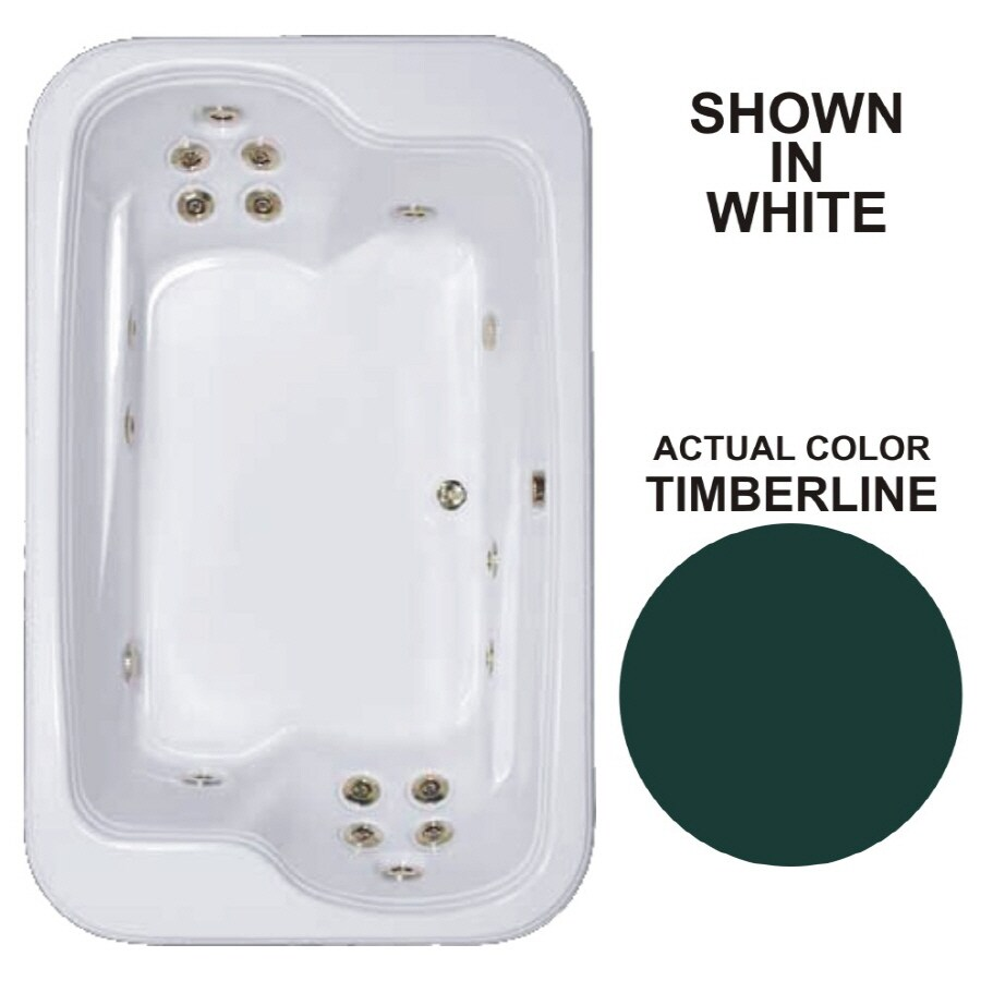Watertech Whirlpool Baths Designer 2-Person Timberline Acrylic Rectangular Whirlpool Tub (Common: 45-in x 72-in; Actual: 25.375-in x 44.5-in x 71.5-in)