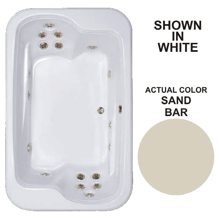Watertech Whirlpool Baths Designer 2-Person Sandbar Acrylic Rectangular Whirlpool Tub (Common: 45-in x 72-in; Actual: 25.375-in x 44.5-in x 71.5-in)