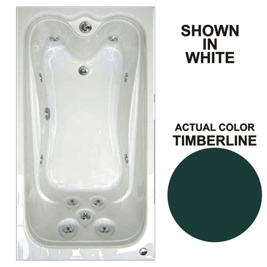 Watertech Whirlpool Baths Elite Timberline Acrylic Rectangular Whirlpool Tub (Common: 42-in x 60-in; Actual: 21.88-in x 41.5-in x 59.75-in)