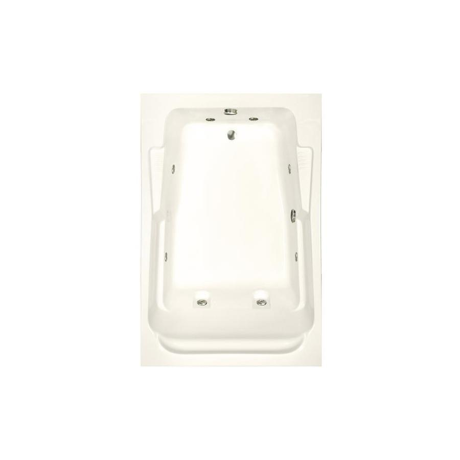 Watertech Whirlpool Baths Designer 2-Person Biscuit Acrylic Rectangular Whirlpool Tub (Common: 48-in x 72-in; Actual: 22-in x 48.25-in x 71.75-in)