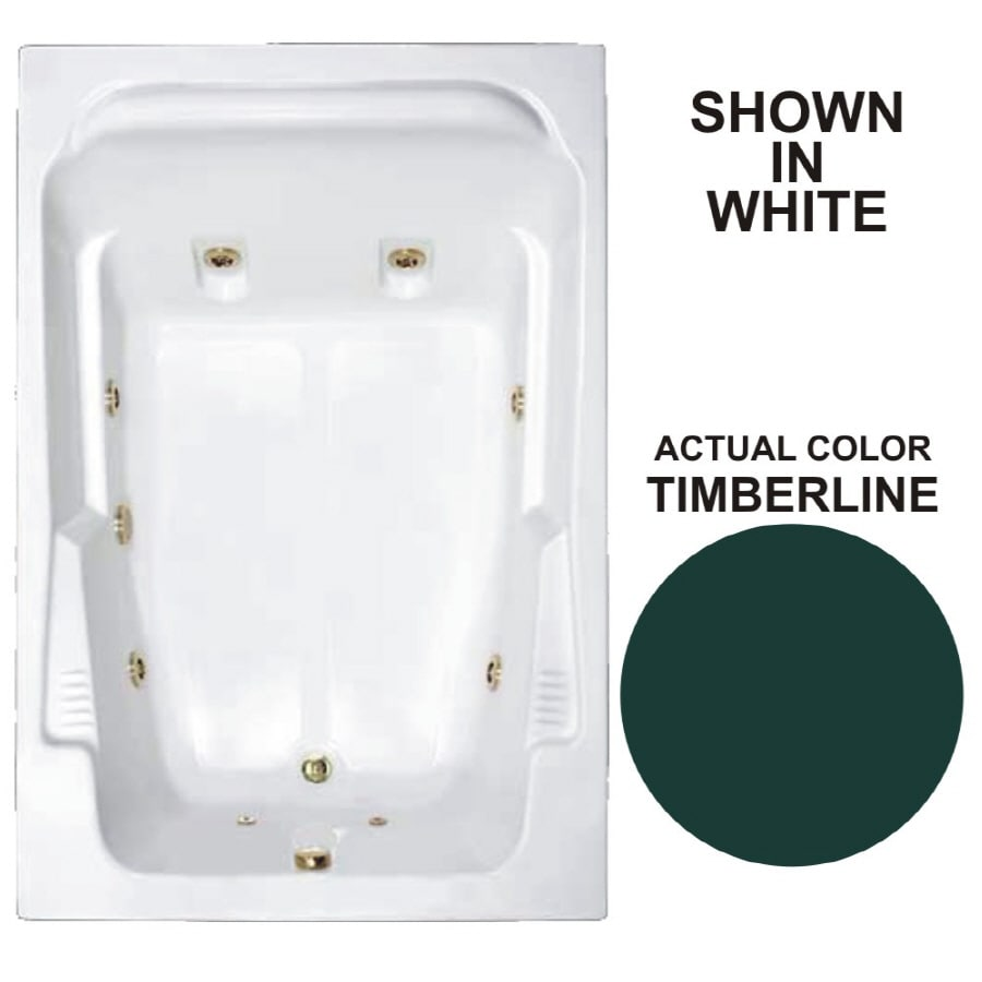 Watertech Whirlpool Baths Designer 71.75-in Timberline Acrylic Drop-In Whirlpool Tub with Reversible Drain