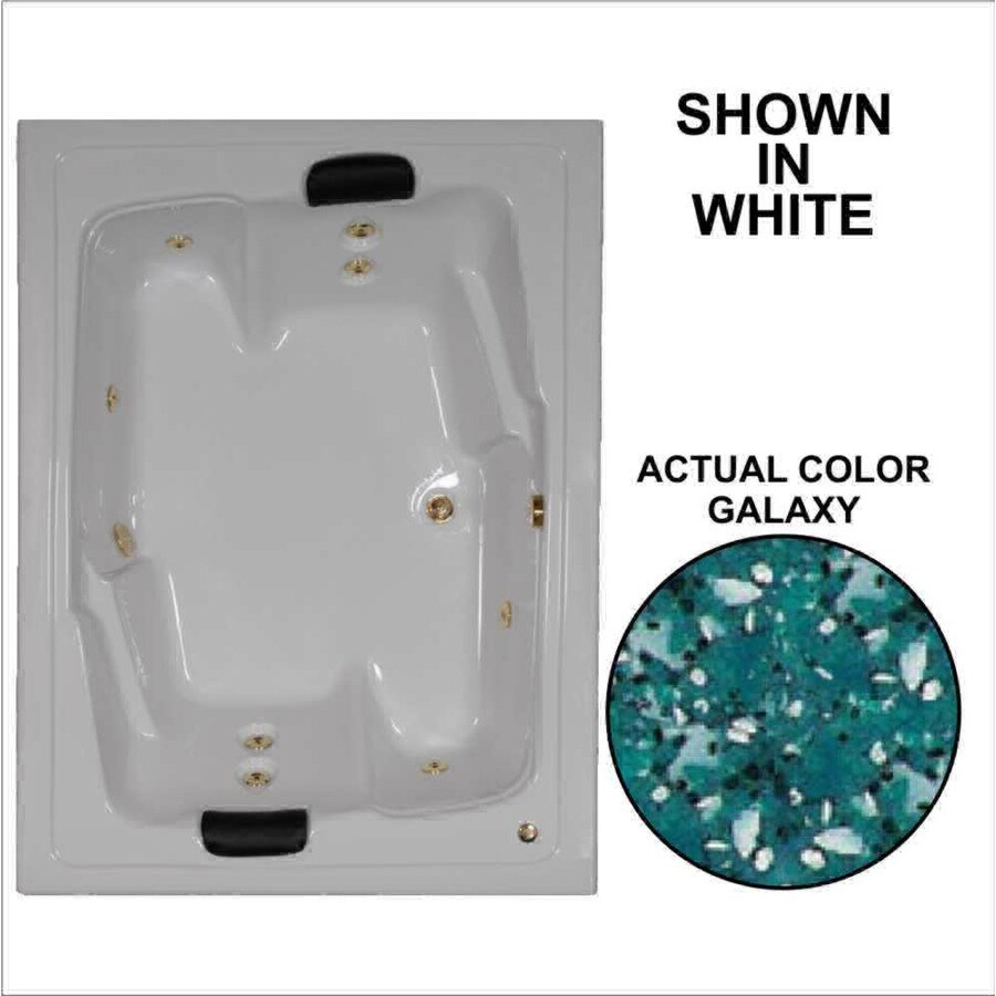 Watertech Whirlpool Baths Designer 2-Person Galaxy Acrylic Rectangular Whirlpool Tub (Common: 54-in x 72-in; Actual: 20.625-in x 53.625-in x 71.5-in)