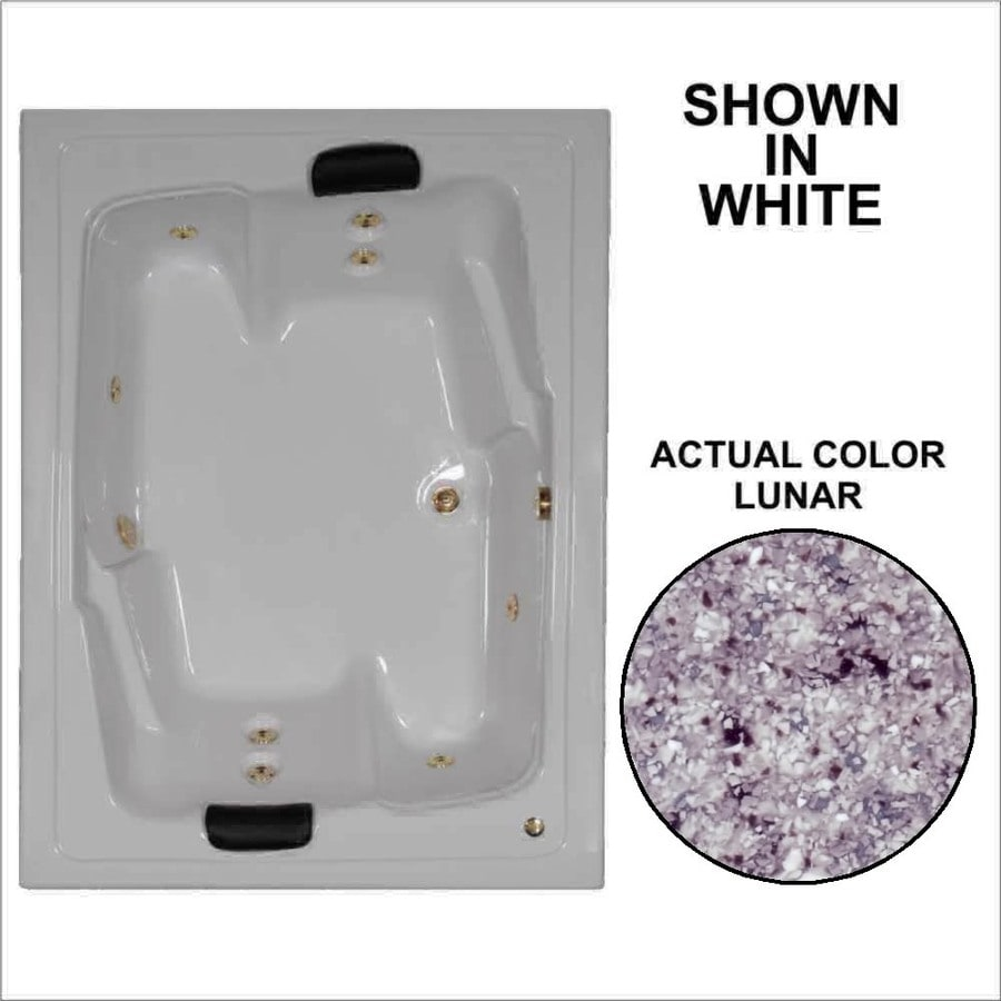 Watertech Whirlpool Baths Designer 2-Person Lunar Acrylic Rectangular Whirlpool Tub (Common: 54-in x 72-in; Actual: 20.625-in x 53.625-in x 71.5-in)