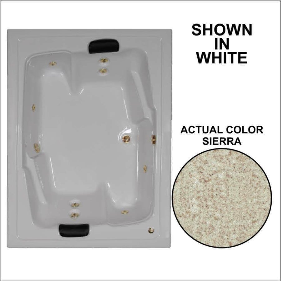 Watertech Whirlpool Baths Designer 2-Person Sierra Acrylic Rectangular Whirlpool Tub (Common: 54-in x 72-in; Actual: 20.625-in x 53.625-in x 71.5-in)
