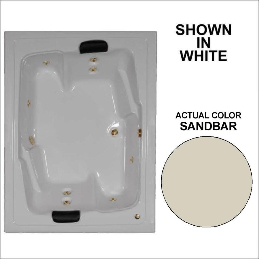 Watertech Whirlpool Baths Designer 2-Person Sandbar Acrylic Rectangular Whirlpool Tub (Common: 54-in x 72-in; Actual: 20.625-in x 53.625-in x 71.5-in)