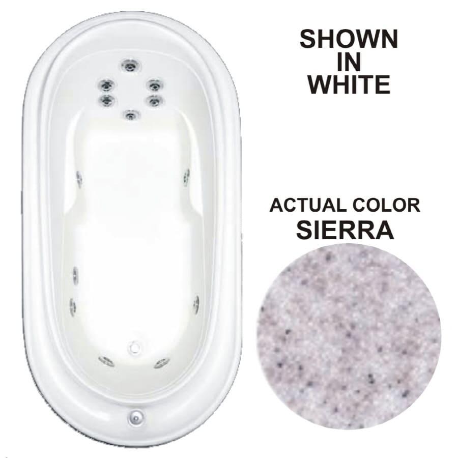 Watertech Whirlpool Baths Designer 72-in Sierra Acrylic Drop-In Whirlpool Tub with Reversible Drain