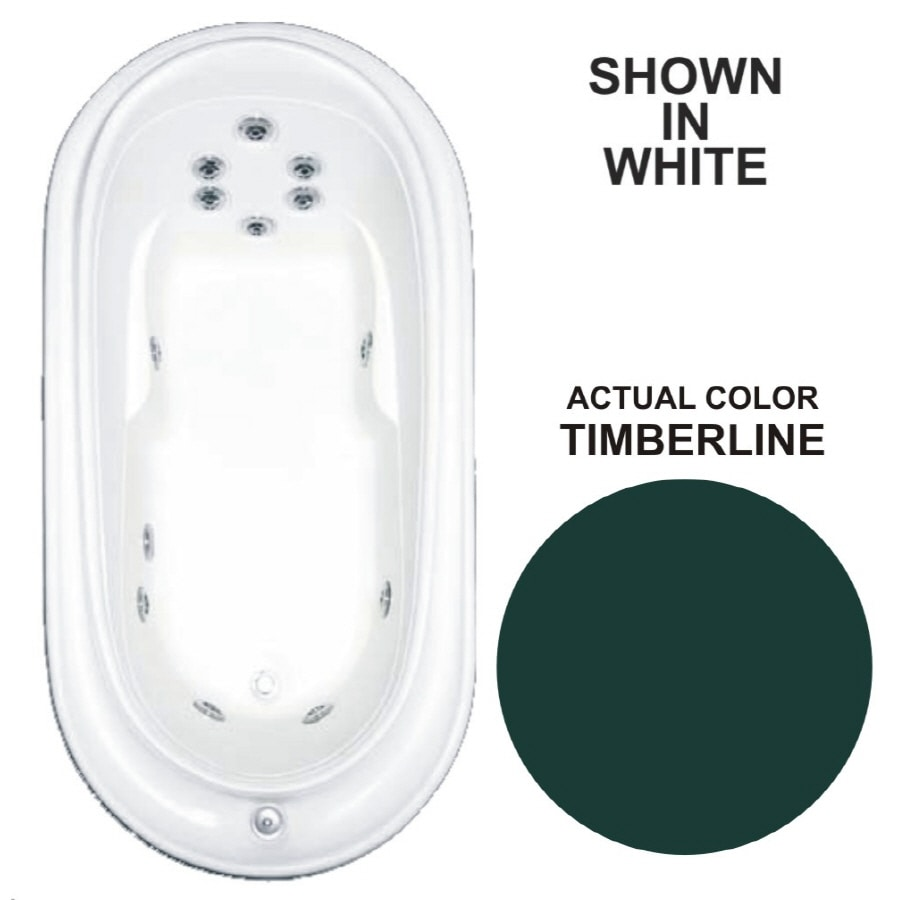 Watertech Whirlpool Baths Designer Timberline Acrylic Oval Whirlpool Tub (Common: 38-in x 73-in; Actual: 21.75-in x 36.75-in x 72-in)