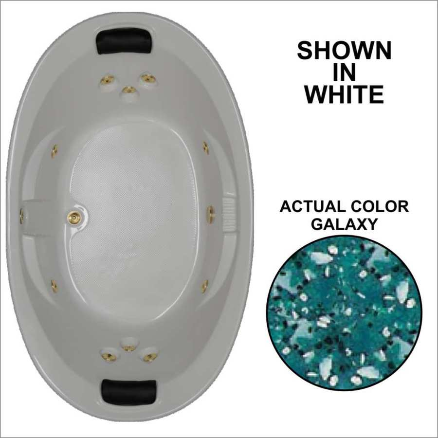 Watertech Whirlpool Baths Designer 72.75-in Galaxy Acrylic Drop-In Whirlpool Tub with Reversible Drain