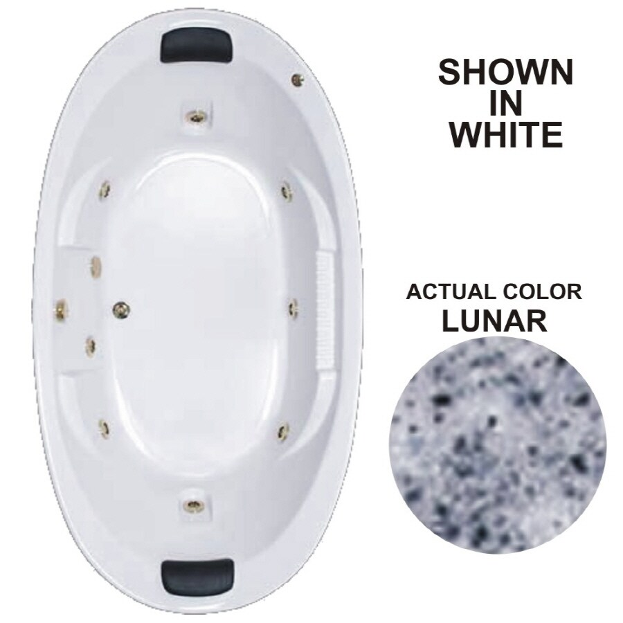 Watertech Whirlpool Baths Designer 83.625-in Lunar Acrylic Drop-In Whirlpool Tub with Reversible Drain