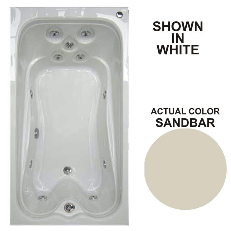 Watertech Whirlpool Baths Warertech 72-in Sandbar Acrylic Drop-In Whirlpool Tub with Reversible Drain