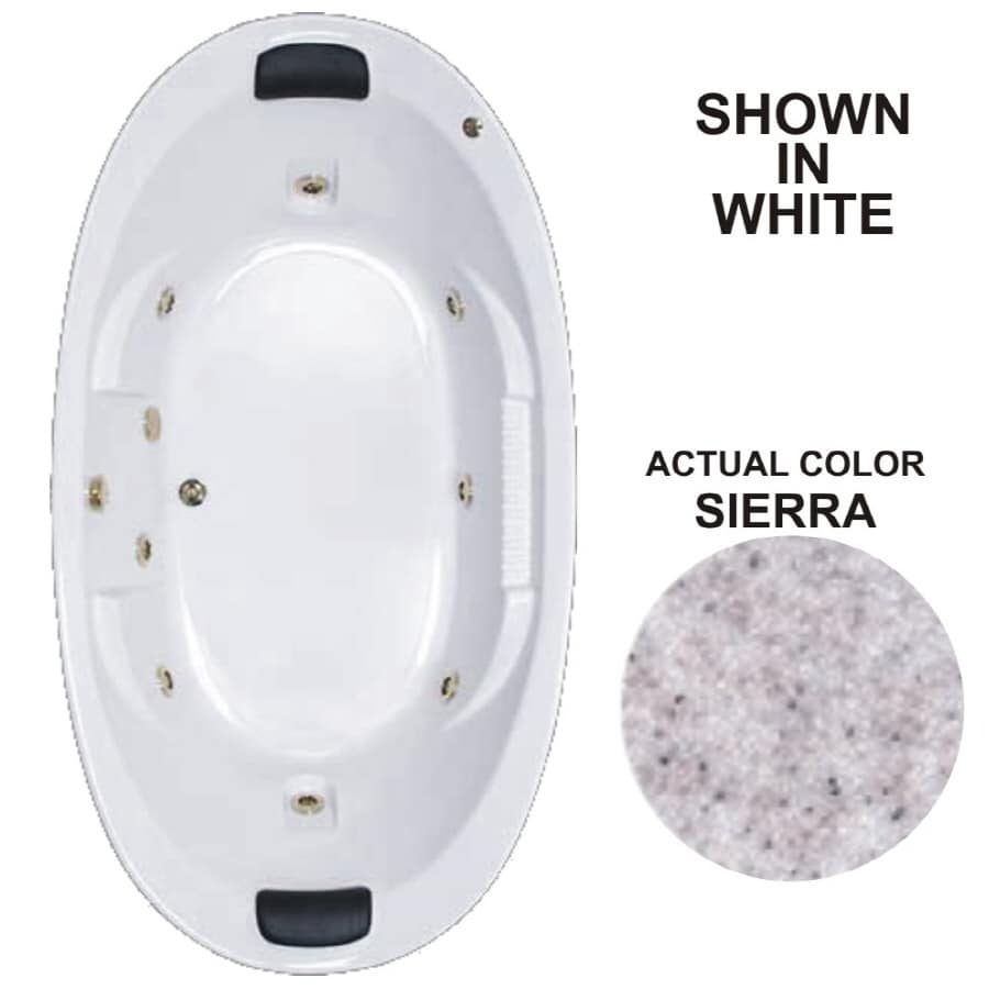 Watertech Whirlpool Baths Designer 2-Person Sierra Acrylic Oval Whirlpool Tub (Common: 46-in x 84-in; Actual: 21.375-in x 45.75-in x 83.625-in)
