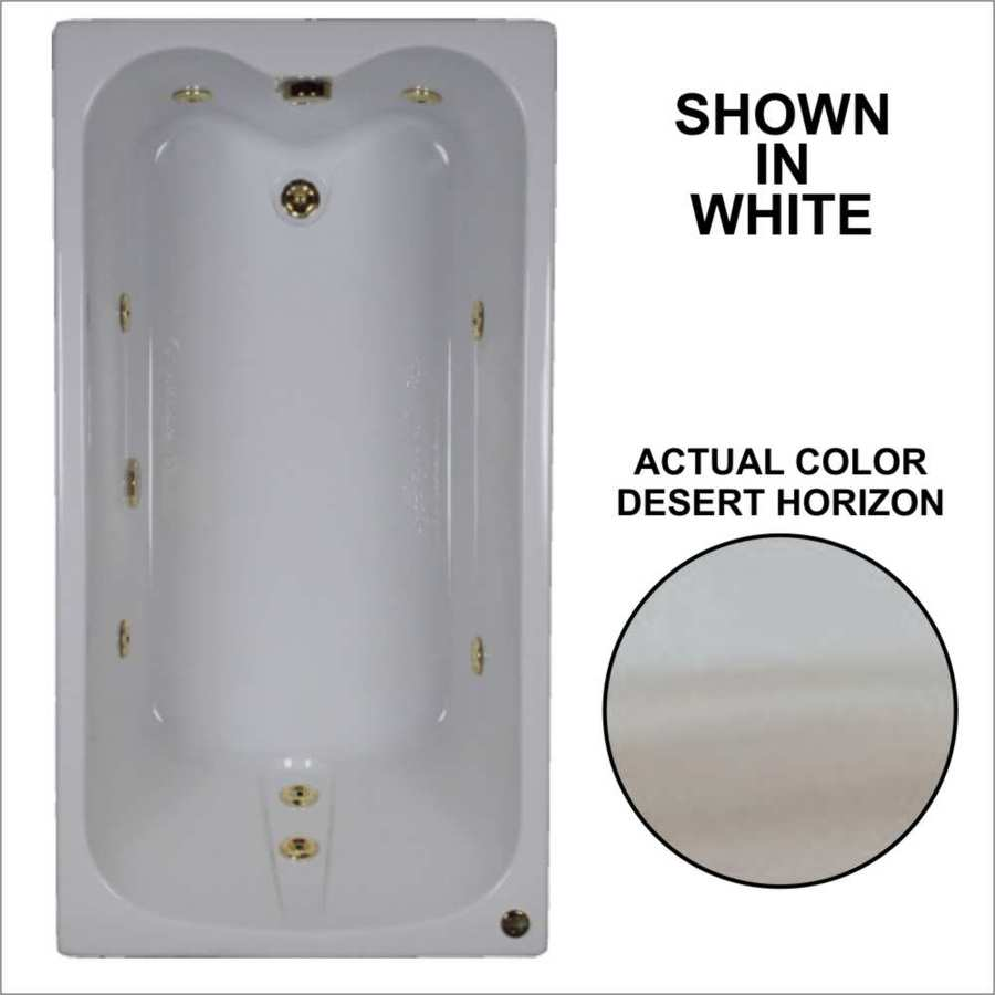 Watertech Whirlpool Baths 59.75-in Desert Horizon Acrylic Drop-In Whirlpool Tub with Reversible Drain