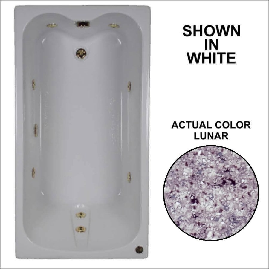 Watertech Whirlpool Baths Lunar Acrylic Rectangular Whirlpool Tub (Common: 32-in x 60-in; Actual: 22.5-in x 31.75-in x 59.75-in)