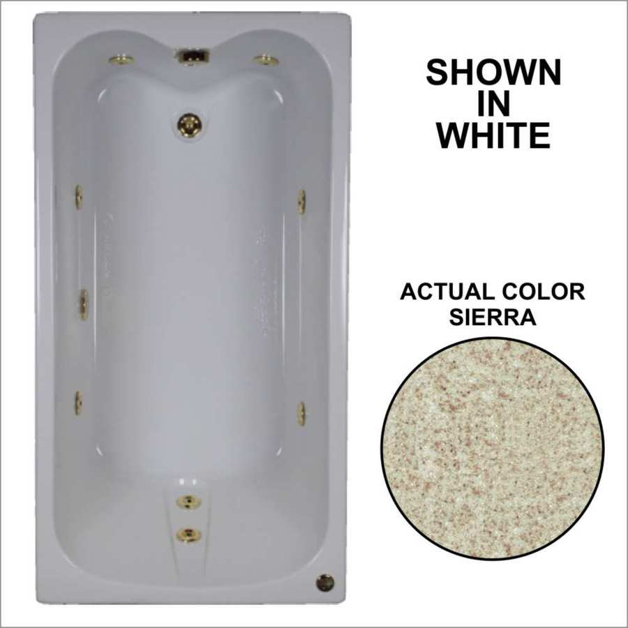 Watertech Whirlpool Baths Sierra Acrylic Rectangular Whirlpool Tub (Common: 32-in x 60-in; Actual: 22.5-in x 31.75-in x 59.75-in)