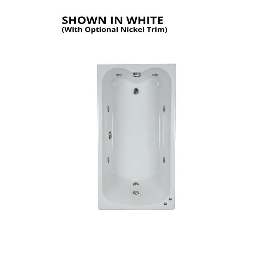 Watertech Whirlpool Baths White Acrylic Rectangular Whirlpool Tub (Common: 32-in x 60-in; Actual: 22.5-in x 31.75-in x 59.75-in)