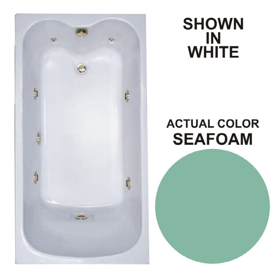 Watertech Whirlpool Baths Warertech Seafoam Acrylic Rectangular Whirlpool Tub (Common: 32-in x 60-in; Actual: 22.5-in x 31.75-in x 59.75-in)