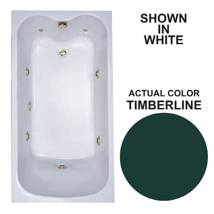 Watertech Whirlpool Baths Warertech Timberline Acrylic Rectangular Whirlpool Tub (Common: 32-in x 60-in; Actual: 22.5-in x 31.75-in x 59.75-in)