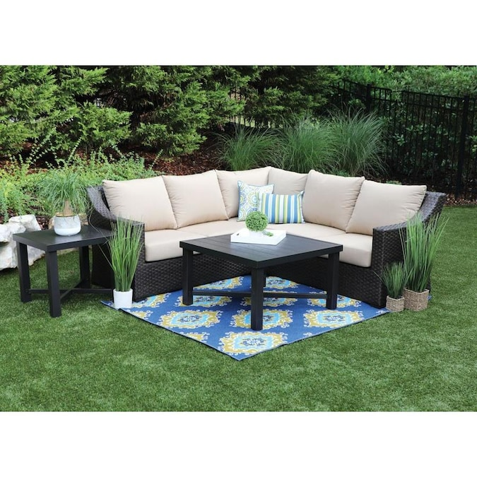Birch 5 Piece Metal Frame Patio