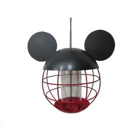 Disney Red And Black Metal Tube Bird Feeder