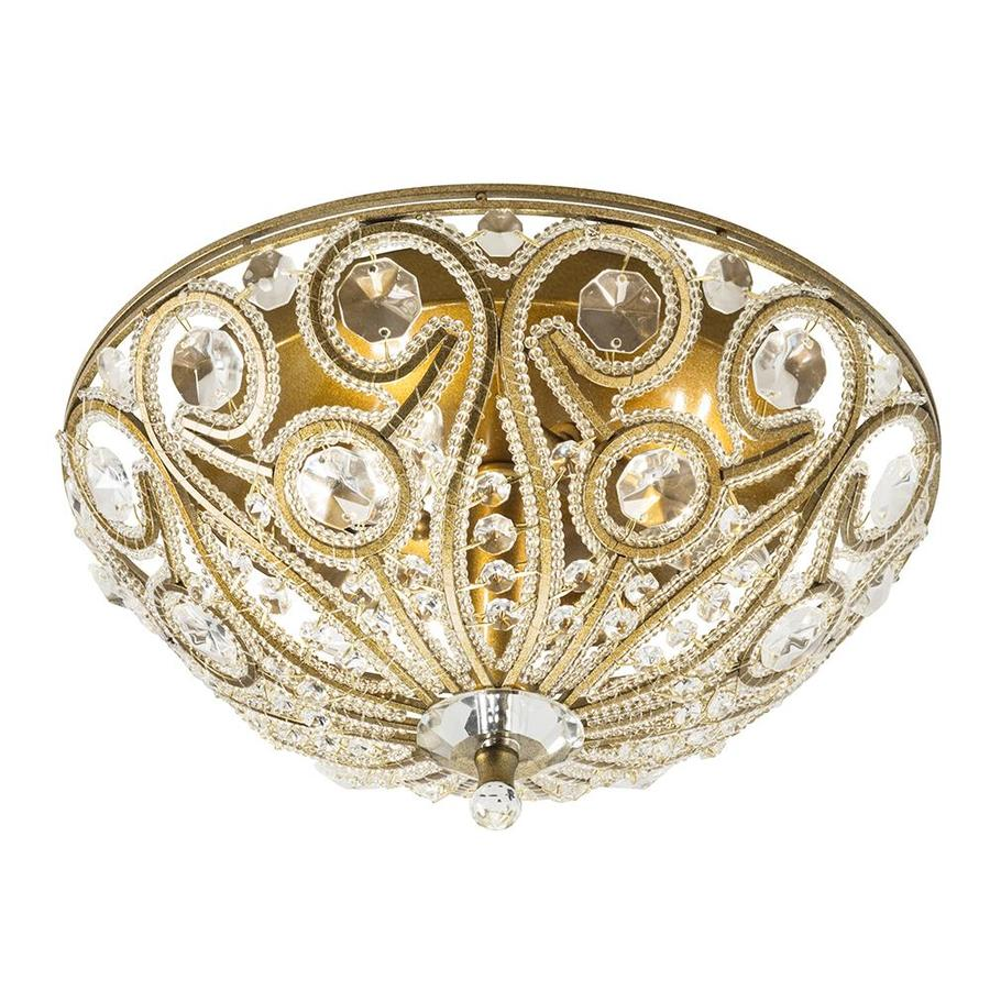 shop sequina 12 99 in w specialty antique gold flush mount light at