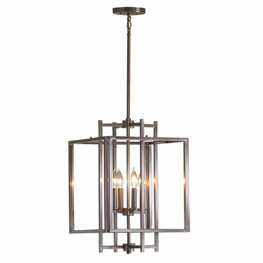 Shop allen roth 1402 in brushed nickel industrial single cage allen roth 1402 in brushed nickel industrial single cage pendant aloadofball Images