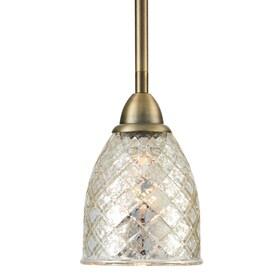 Allen Roth Lynlore Old Br Mini Vintage Mercury Gl Dome Pendant Light