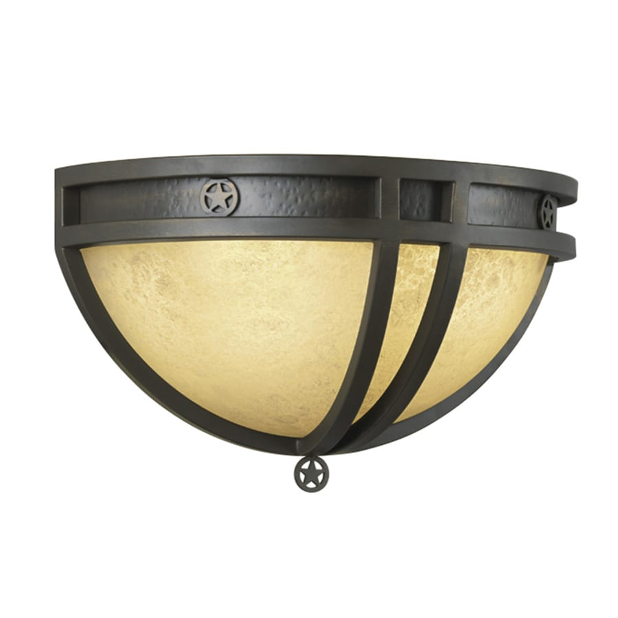 Portfolio Thoroughbred 14-in W 2-Light Aged Bronze Pocket Wall Sconce