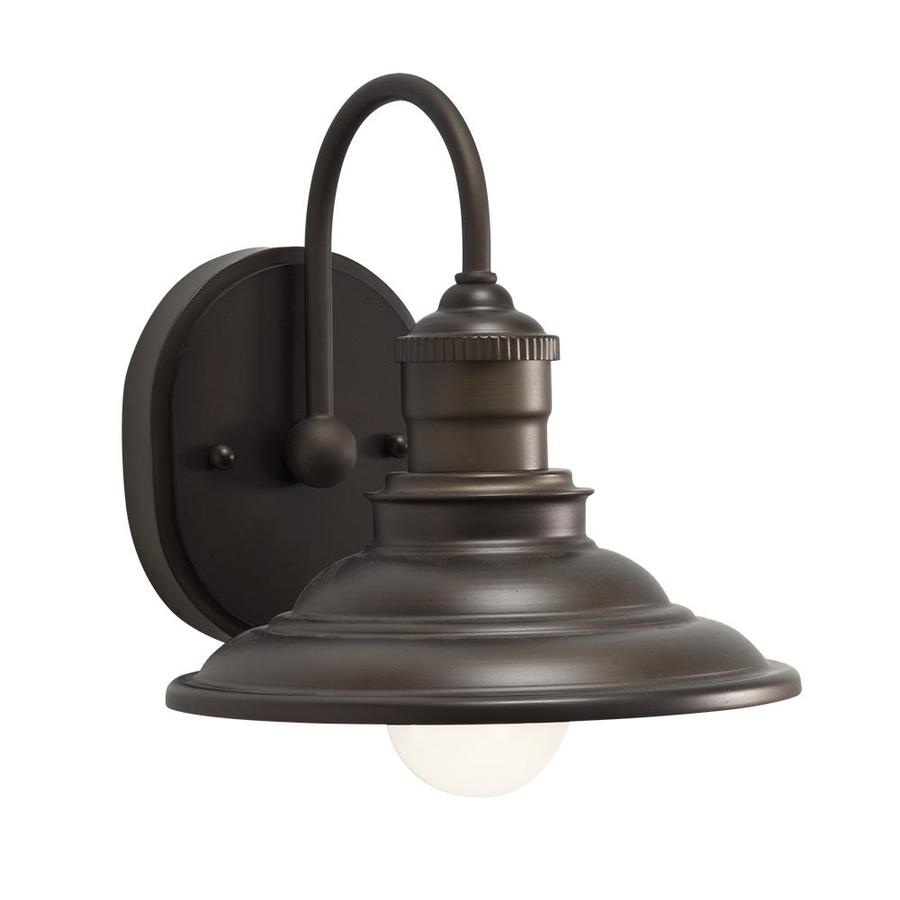 Vanity Lights Not Hardwired : Shop allen + roth Hainsbrook 1-Light 7.99-in Aged Bronze Cone Vanity Light at Lowes.com