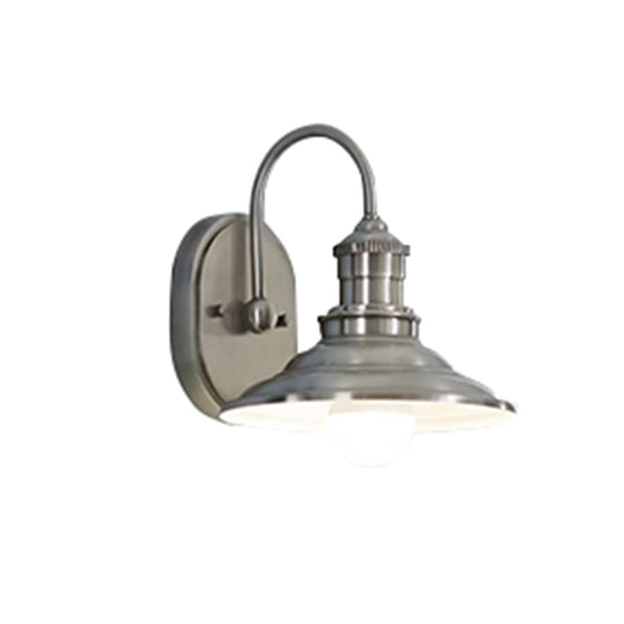 Vanity Lights Not Hardwired : Shop allen + roth Hainsbrook 1-Light 8-in Antique Pewter Cone Vanity Light at Lowes.com