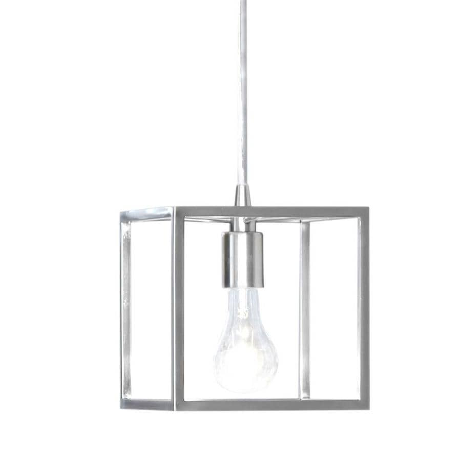 Style Selections Arctura 7.01-in Brushed Nickel Industrial Hardwired Mini Cage Pendant