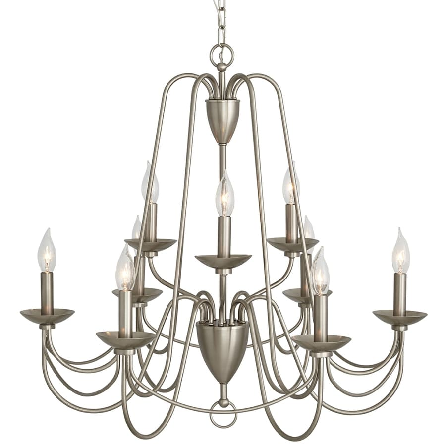 Shop allen roth wintonburg 9 light brushed nickel williamsburg allen roth wintonburg 9 light brushed nickel williamsburg candle chandelier aloadofball Image collections