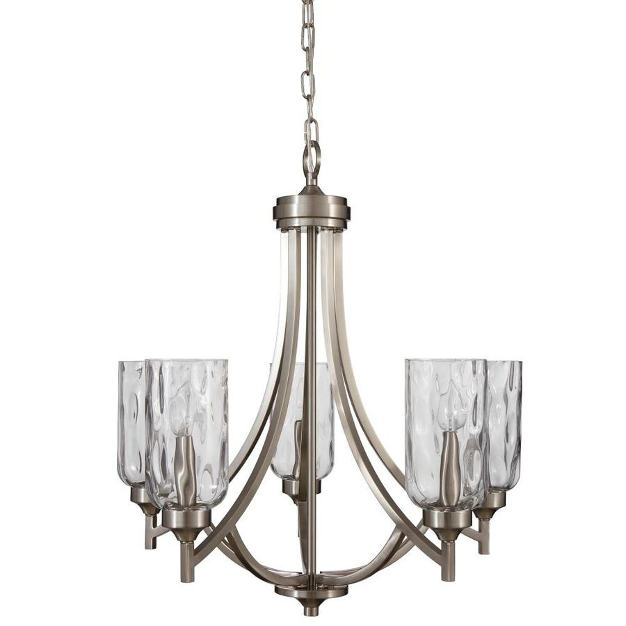 allen roth lighting shop allen roth latchbury 5 light brushed nickel 30525