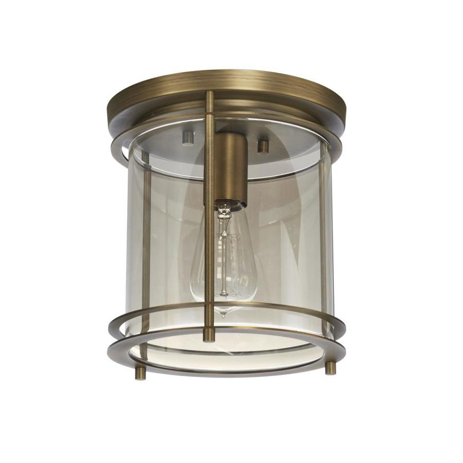 allen + roth 8.27-in W Soft gold Flush Mount Light