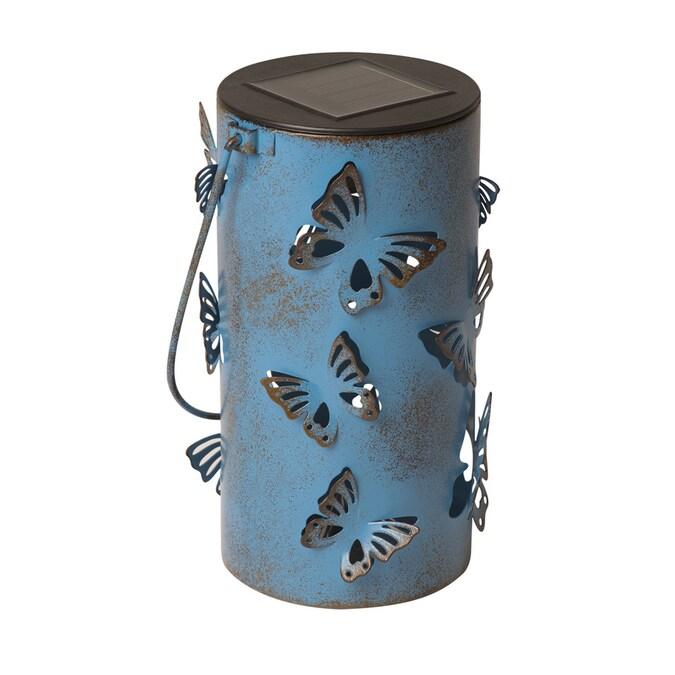 Blue Metal Solar Outdoor Decorative