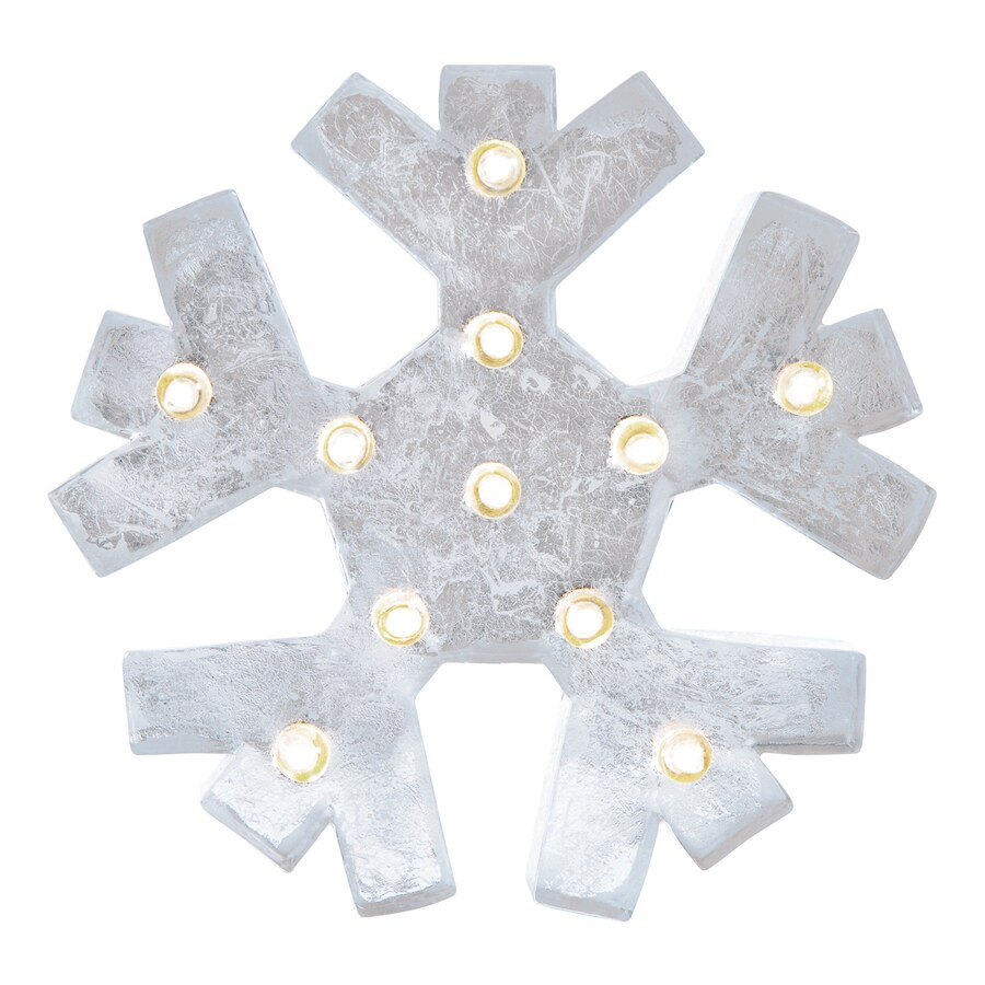 Holiday Living Pre-Lit Snowflake Ornament Stand with Constant White LED Lights