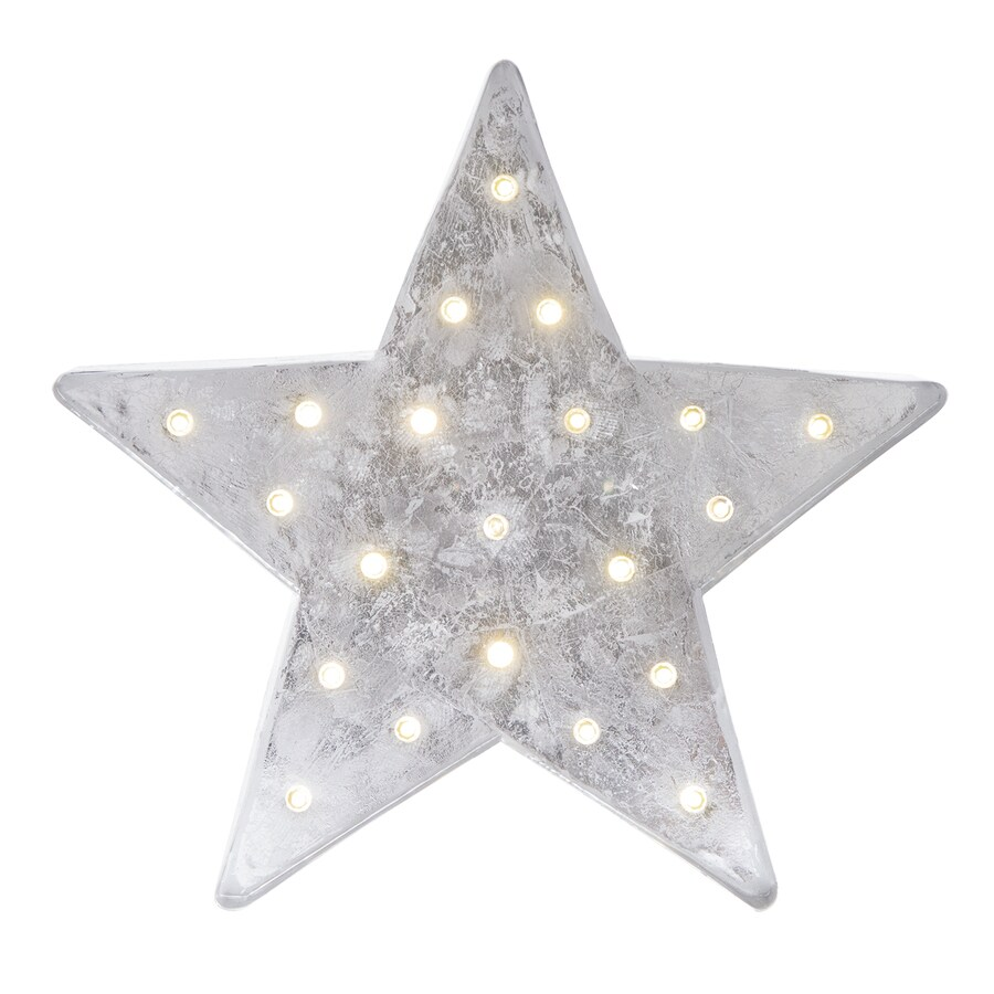 Holiday Living Pre-Lit Star Ornament Stand with Constant White LED Lights