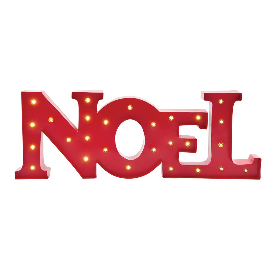 Holiday Living Pre-Lit Noel Ornament Stand with Constant White LED Lights