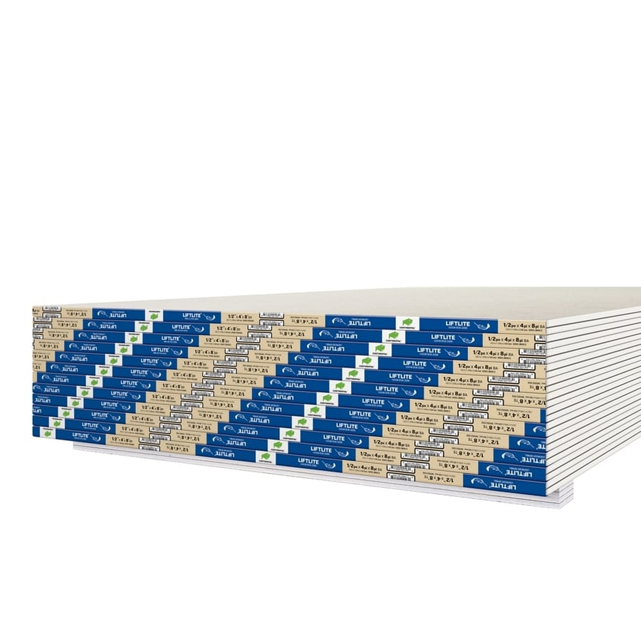 Continental Building Products Common 1 2 In X 4 Ft X 8 Ft Actual 0 5 In X 4 Ft X 8 Ft Liftlite Drywall Panel In The Drywall Panels Department At Lowes Com