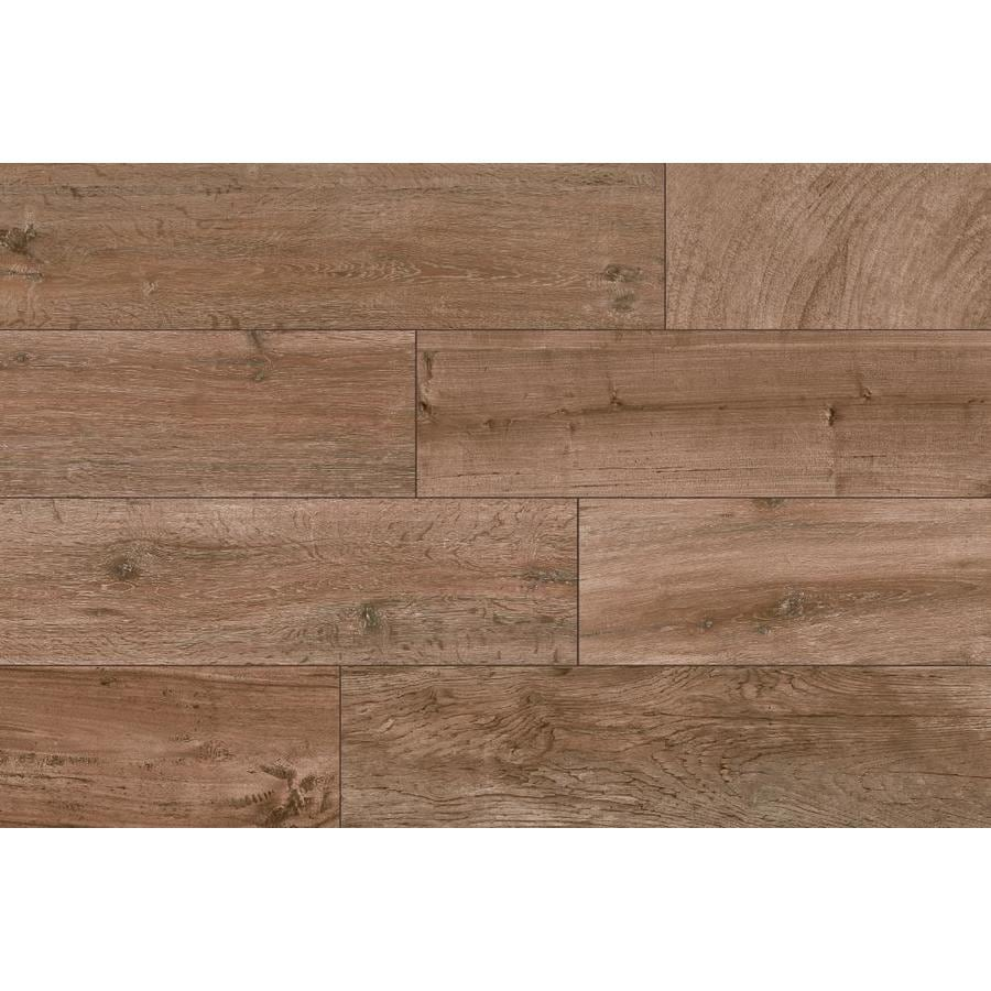 Shop Style Selections Woods Natural Wood Look Porcelain Floor And Wall Tile Common 6 In X 24