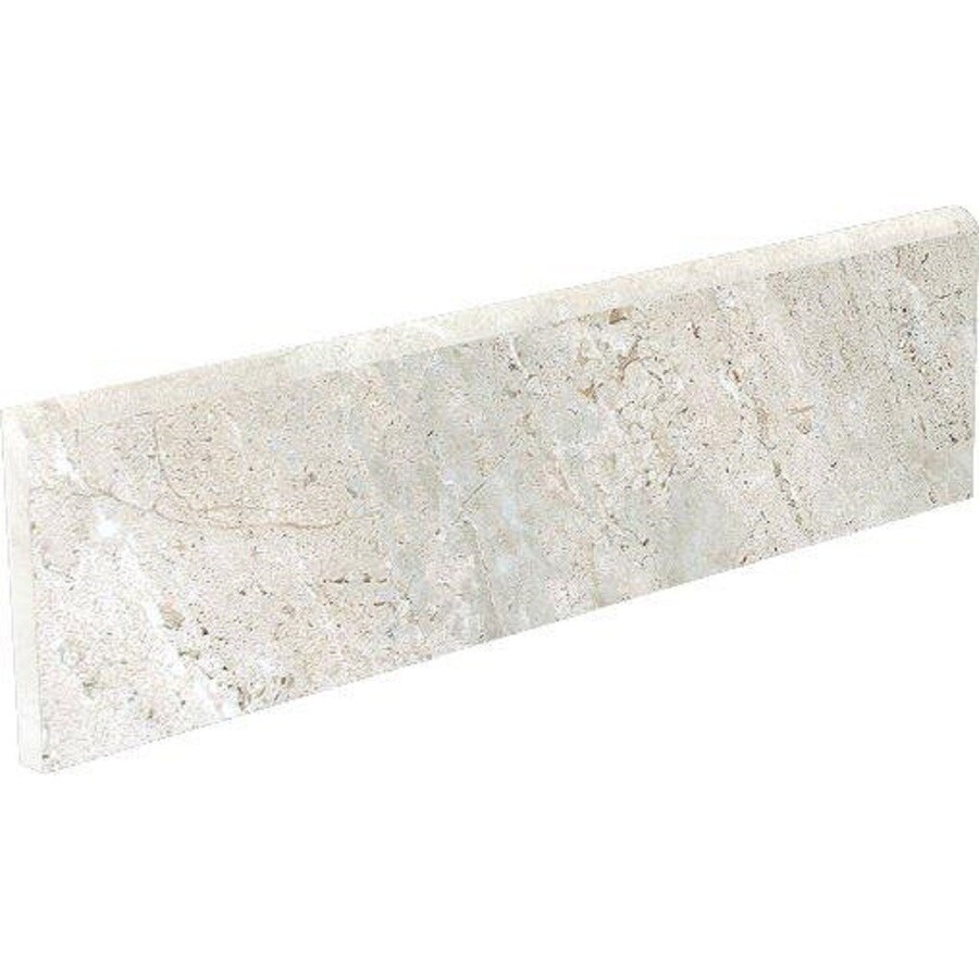 Style Selections Classico Taupe Porcelain Bullnose Tile (Common: 3-in x 12-in; Actual: 11.81-in x 2.95-in)