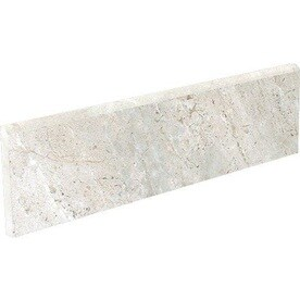 Style Selections Classico Taupe Porcelain Bullnose Tile (Common: 3-in x 12-