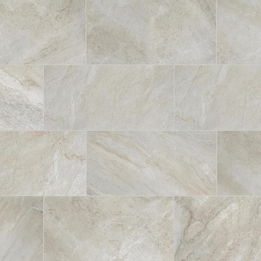 Shop Style Selections Classico Taupe Porcelain Floor And Wall Tile Common 1